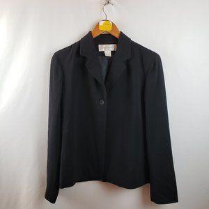 Jones New York Wool One Button Blazer Sz 6 Black